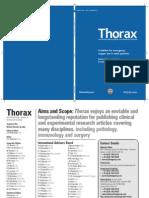 Thorax AN INTERNATIONAL JOURNAL OF RESPIRATORY MEDICINE