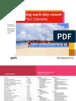 2015 Tax Calendar Isla Lipana Pwc-tax-calendar-2015