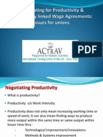 Negotiating for Productivity & Productivity linked Wage Agreements