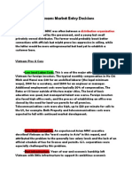Vietnam Some points on Market Entry Decisions .docx