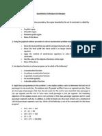 Quantitative Techniques for Manager