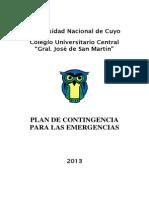 Plan de Contingencias Para Las Emergencias 2013