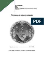 Principios Generales de La Administración Fayol y Taylor