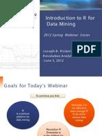 Intro to Data Mining Webinar