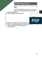 Odys Mp-x29fm Userbook