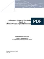 Canada Mineral Processing Extractive Metallurgy 2008