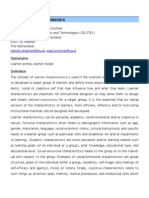 Learner Characteristics Pre-print