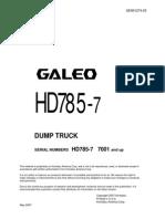 Shop Manual HD785-7 (Japones)