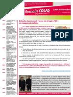 Newsletter de Romain Colas n°2 Décembre 2014