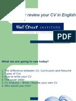 Para a Web - Writing a Resume
