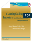 E-Learning Challenges and Prospects Presentation