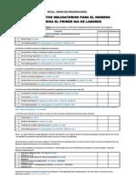 Documentos Obligatorios Bienestar Organizacional