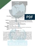 Best practices in counterinsurgency