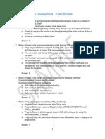 Android Application Development Exam Sample
