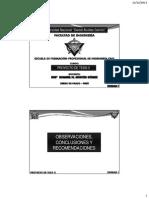 Clase 07 Observaciones, Conclusiones y Recomendaciones