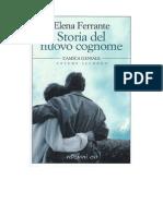 Storia Del Nuovo Cognome - Elena Ferrante