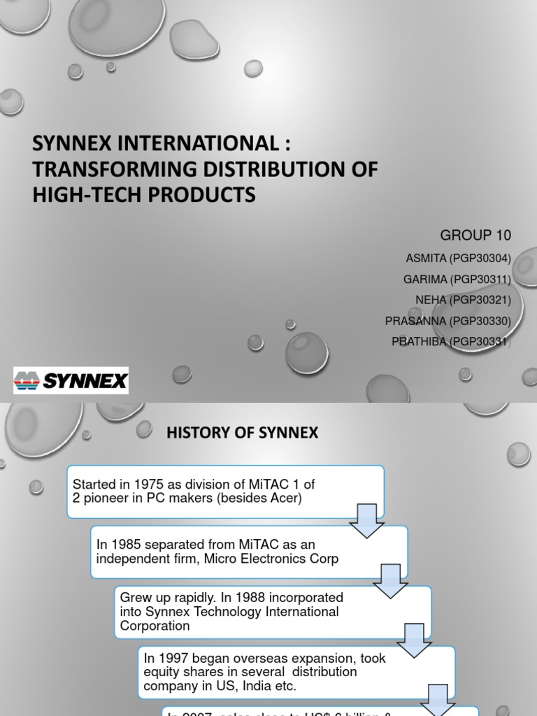synnex international transforming distribution of high tech products He is on the board of directors of mitac holdings corporation, synnex technology international corp, upc technology corp, lien hwa industrial corp and getac technology corporation.