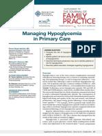 PCEC Hypoglycemia