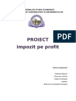 PROIECT impozitul pe profit