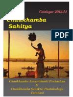 Catalogue of Chaukhamba Sanskrit Pustakalaya (2013-14)