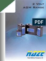 Banco de Baterias - HZB 2V Bloc AGM