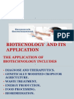 Biotecnology and Its Application