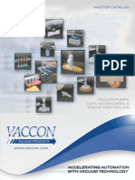 Vaccon Catalog - Vacuum Pumps, Cups, Accessories, & End-Of-Arm Tooling - Updated 2014
