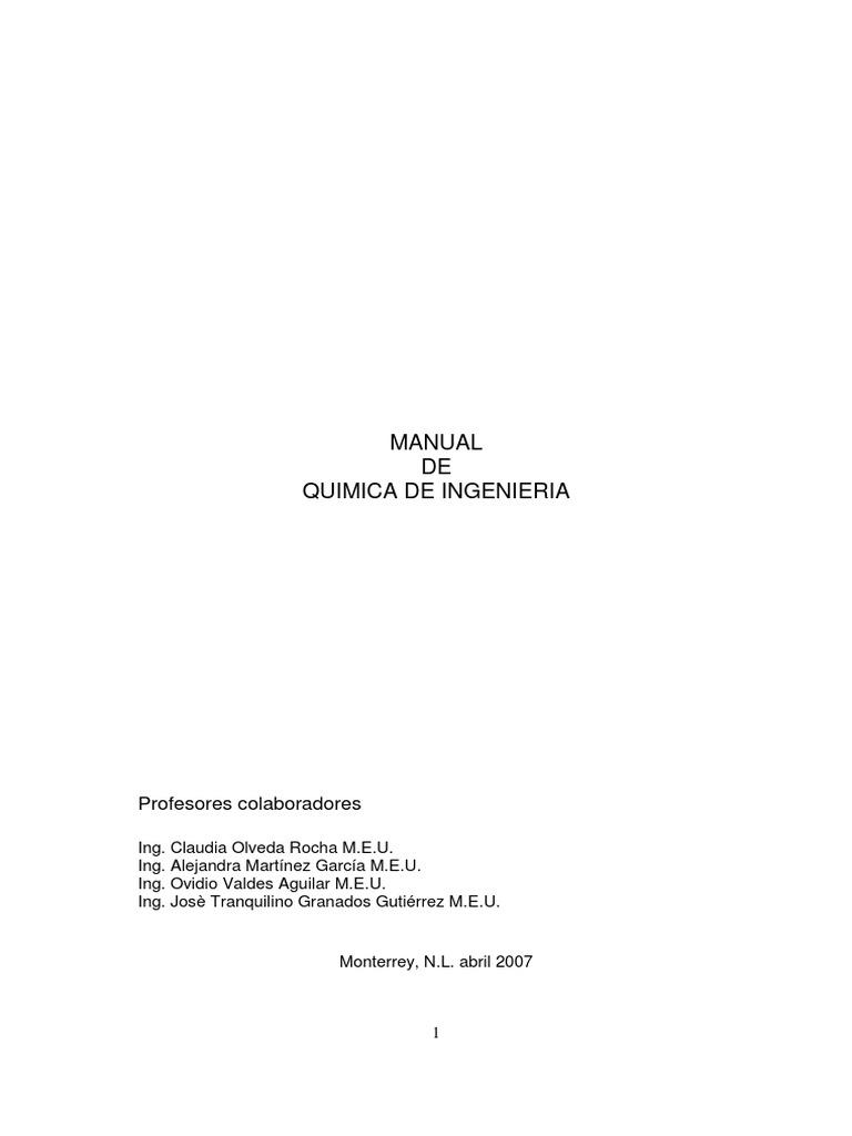 Quimica Ingenieria