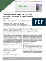 Transforming executives into corporate diplomats