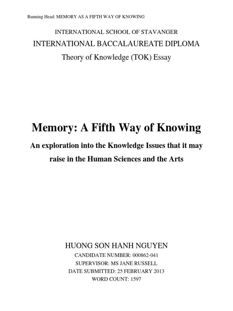 IB Theory of Knowledge Essay | Memory | Recall (Memory)