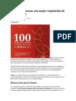 Las 100 empresas con mejor reputación de Bolivia 2013.docx