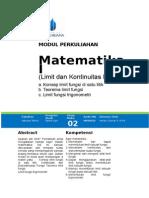 Modul-2. Mtk I Limit dan Kontinuitas Fungsi.doc