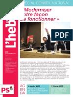 L'Hebdo des socialistes n°759 - Spécial Conseil national