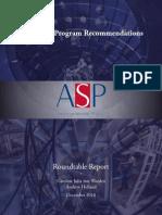 US Fusion Program Recommendations