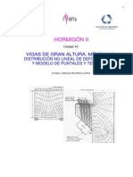 Vigas de Gran Altura. Ménsulas. Distribución No Lineal de Deformaciones y Modelo de Puntales y Tensores