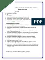 Documentos Para Declaração de Imposto de Renda