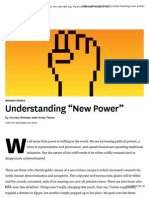 Understanding New Power - Abstract