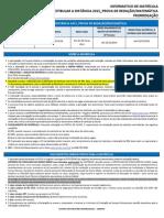 Informativo de Matrícula Vestibular a Distância 2015 Uninter Prova de Redação Matemática Prorrogação1