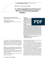 2011 Scapulothoracic and Scapulohumeral Exercises, A Narrative Review of Electromyographic Studies
