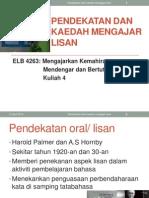 ELB4263_kuliah 4_Pendekatan dan kaedah mengajar lisan.ppt