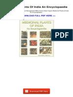 Medicinal Plants of India an Encyclopaedia 1064501