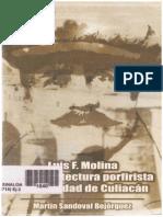 Sandoval Bojórquez, Martín - Luis F. Molina Y La Arquitectura Porfirista de Culiacán