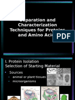 Separation and Characterization Techniques for Proteins and Amino