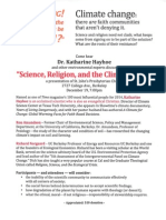 Science, Religion and the Climate Crisis