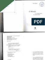 Morin, Edgar - O MÉTODO 3 - o Conhecimento Do Conhecimento