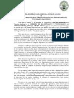 Carta para el Colegio de Magistrados de SanIsidro