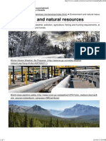 Environment and Natural Resources - Canada