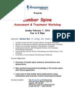 Lumbar Spine Registration 2010