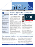 Kern Council of Governments Quarterly New Letter - Fall 2014
