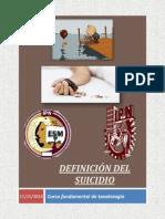 Definicion Del Suicidio